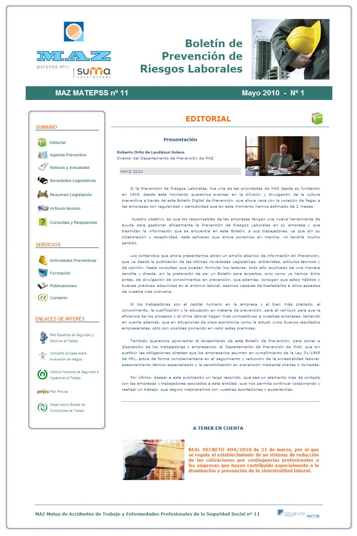 Boletín PRL - Nº 01 - Mayo 2010