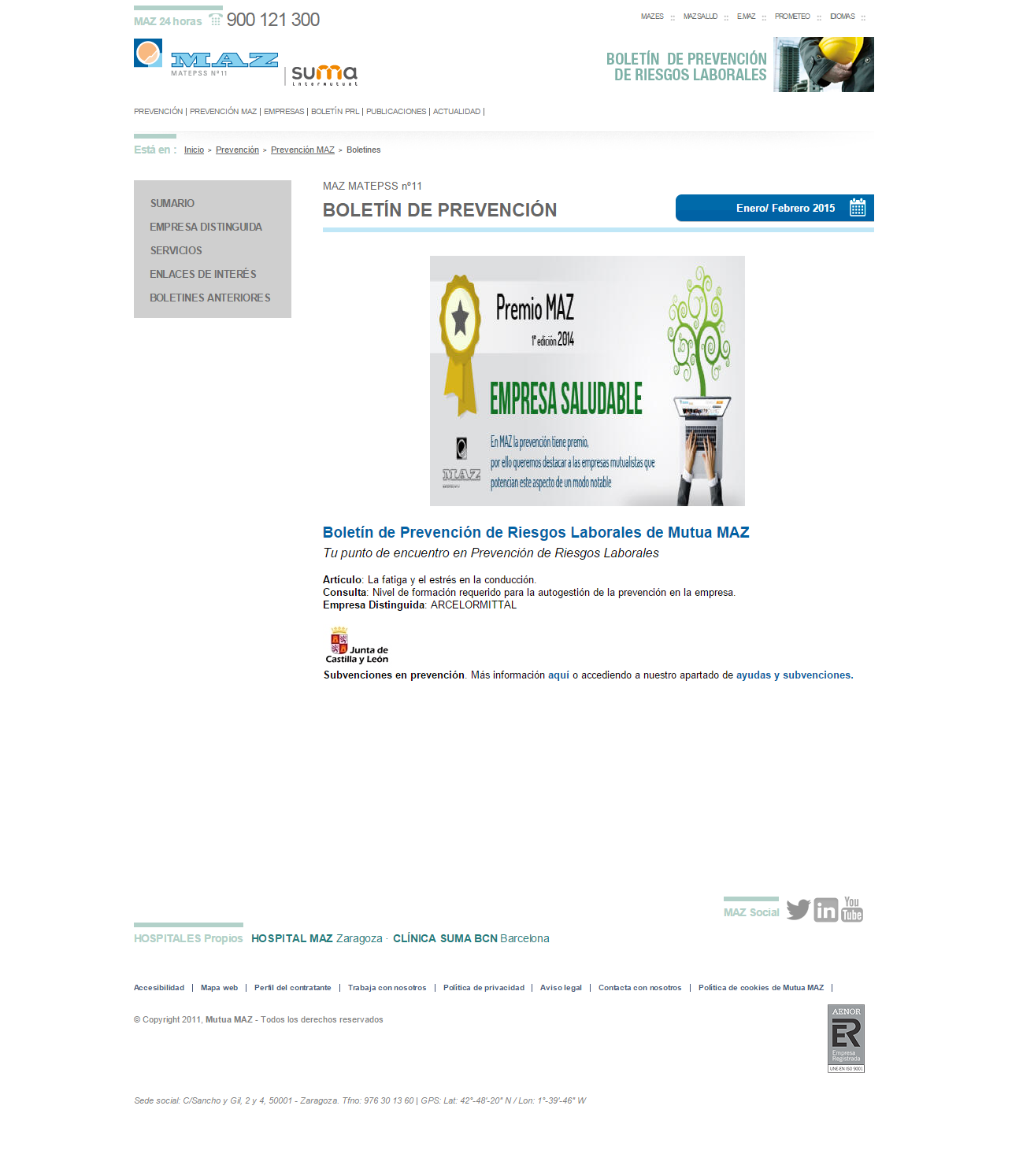 Boletin PRL - Nº 26 – Enero 2015