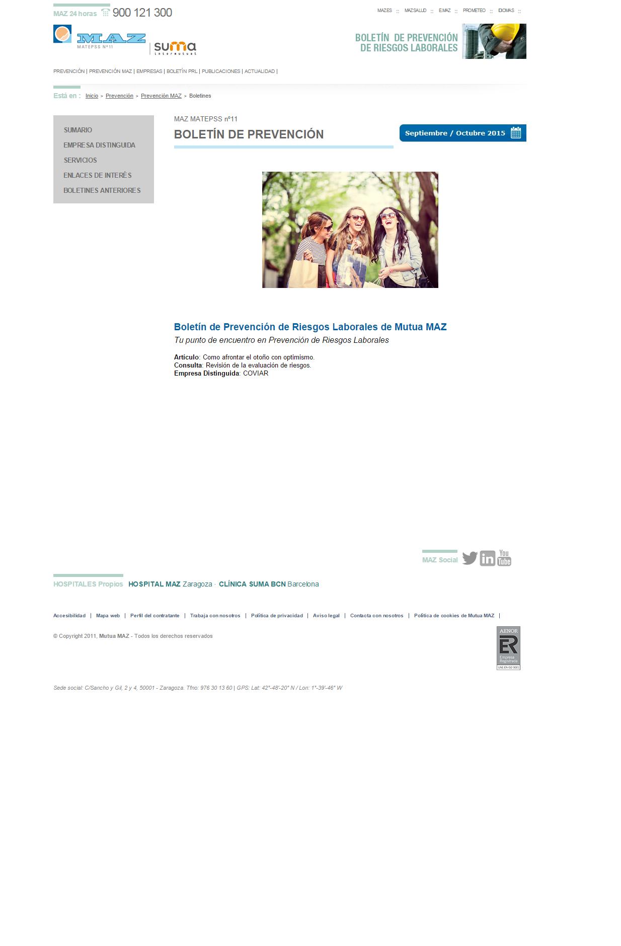 Boletin PRL - Nº 28 - Septiembre 2015