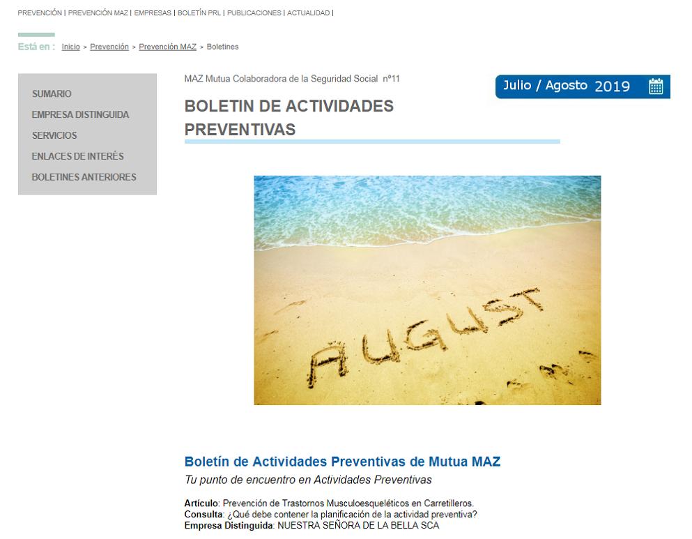 Boletin PRL - Nº 45 - Julio 2019